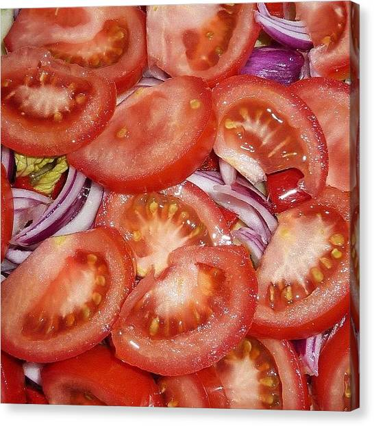 Tomato Canvas Print - Terapia Contra El Calor 1 by Manuel M Almeida
