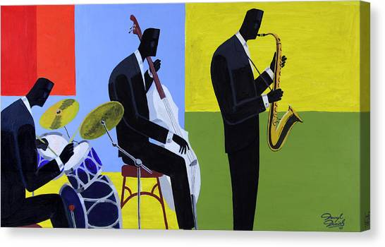 Terrace Jam Session Canvas Print