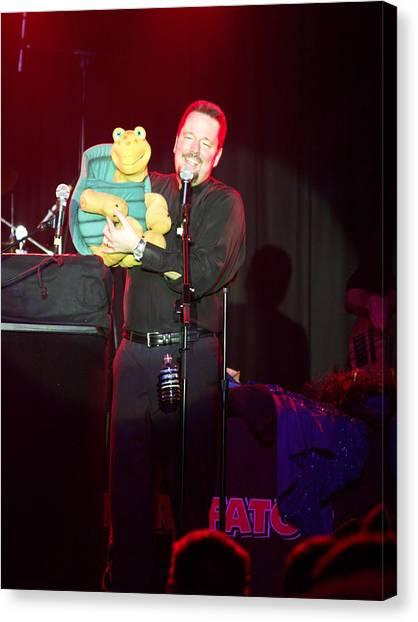 Terry Fator Canvas Print by Kenneth Dow