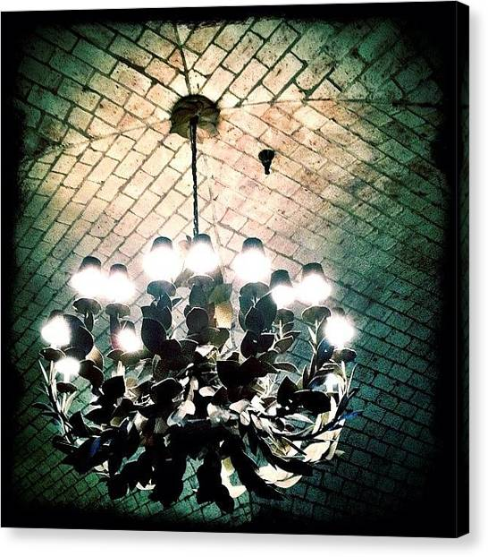 Austin Canvas Print - Texan Chandelier by Natasha Marco