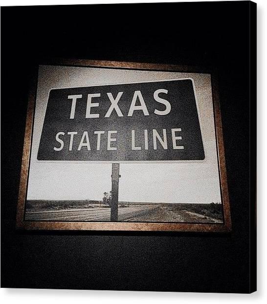 Texas Canvas Print - Texan Decor by Natasha Marco