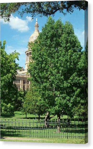 Texas Capitol Building In Austin Canvas Print