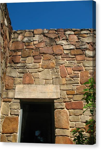 The University Of Texas Canvas Print - Texas Limestone Doorway With Lintel by Connie Fox