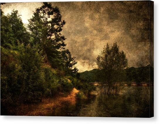 Textured Lake Canvas Print