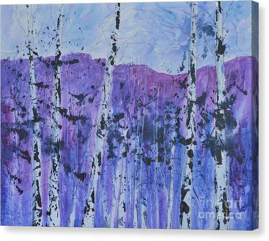 Textured Trees Canvas Print