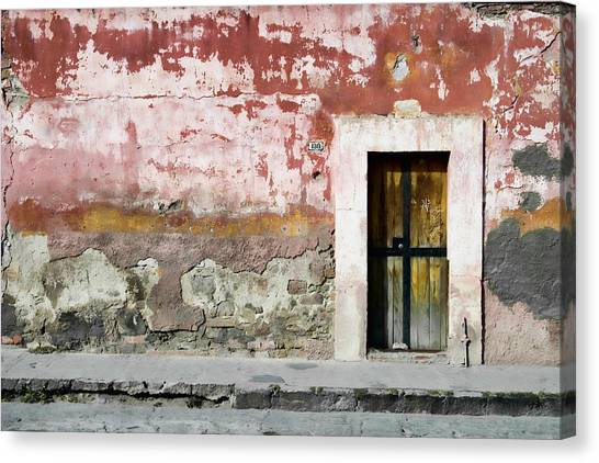 San Miguel De Allende Canvas Print - Textured Wall In Mexico by Carol Leigh