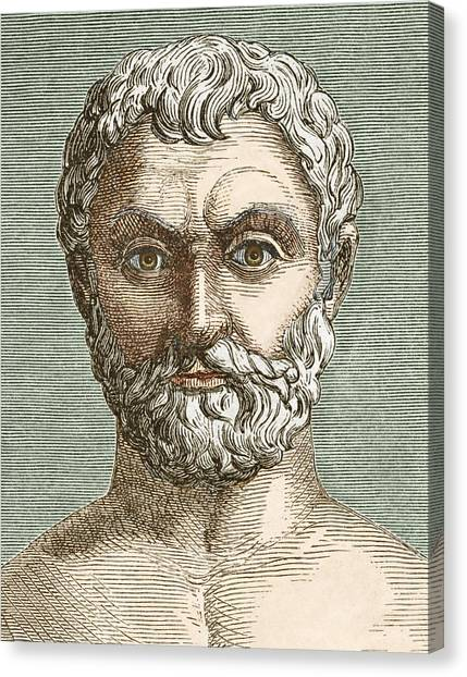 Thales, Ancient Greek Philosopher Canvas Print by Sheila Terry