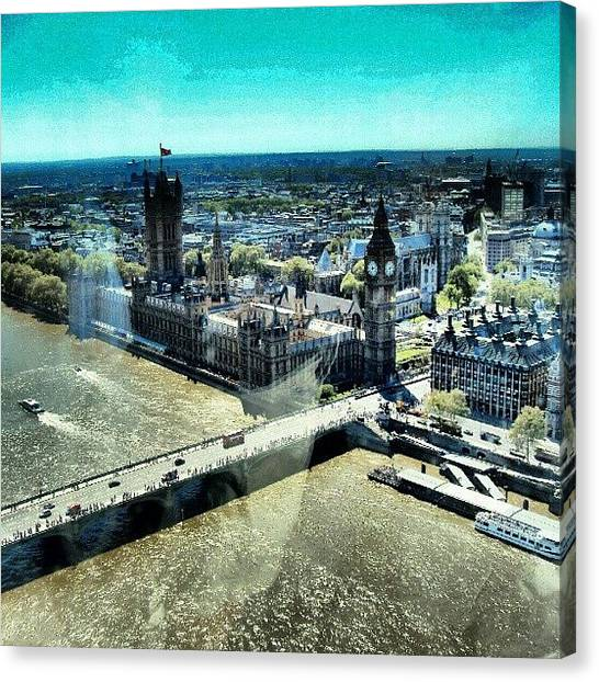 London2012 Canvas Print - Thames River, View From London Eye | by Abdelrahman Alawwad