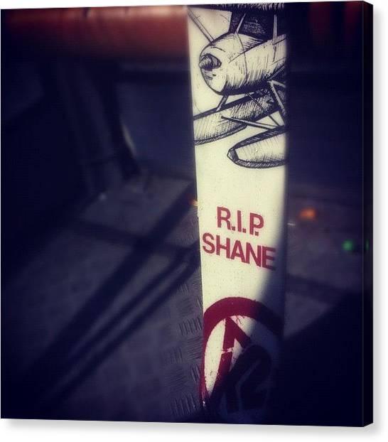 Pontoon Canvas Print - Thank U Shane... #shanemcconkey #k2 by Ali Samieivafa