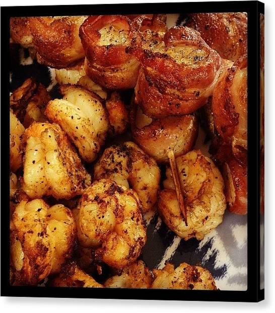 Bacon Canvas Print - Thank You @joeskev For A Yummy Lunch by Kim Szyszkiewicz
