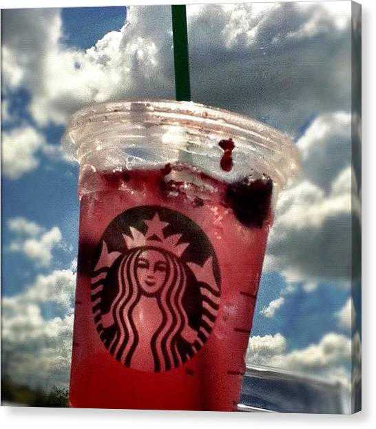 Berries Canvas Print - Thank You @starbucks #today #free by Kika Verde