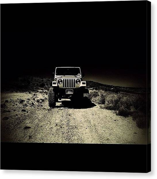 Offroading Canvas Print - Thanks @rubicontaxi Love This One! by James Crawshaw