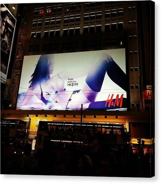 Om Canvas Print - That's Huge!  #giant #billboard by Om Bhatia