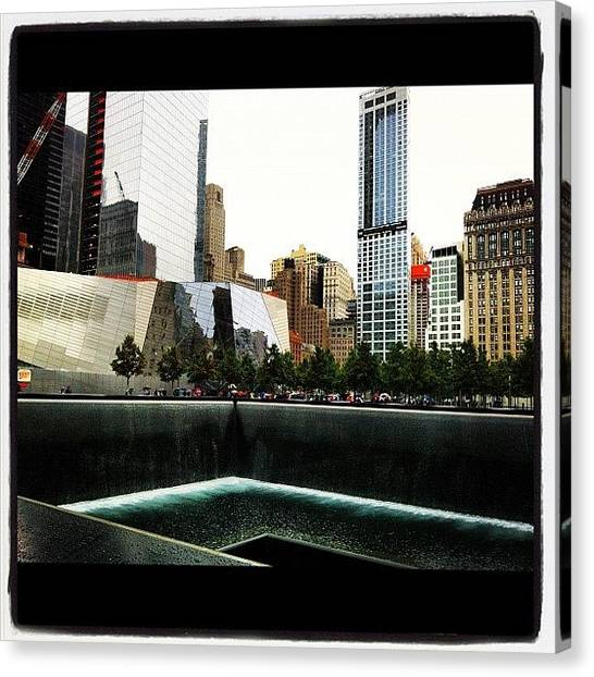 Hurricanes Canvas Print - The 9/11 Memorial. View From The North by Hurricane Katrina
