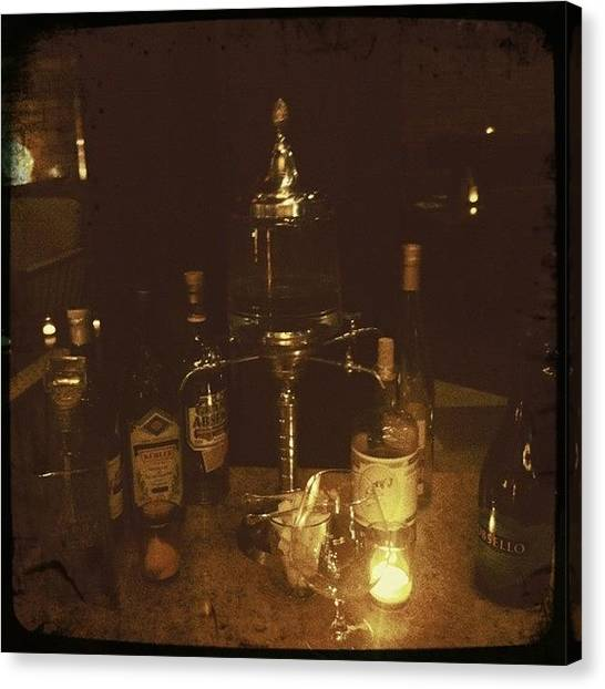 Tables Canvas Print - The Absinthe Table by James Roberts