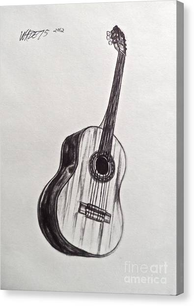 The Acoustic Man Canvas Print by Wade Hampton