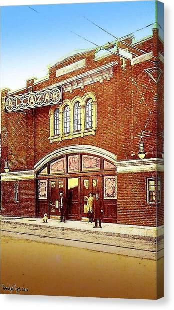The Alcazar Theatre In Naugatuck Ct 1913 Canvas Print
