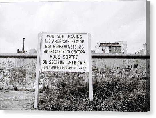 Berlin Wall American Sector Canvas Print