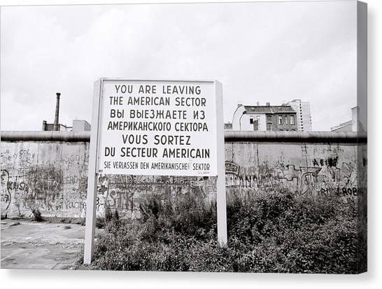 Berlin Wall American Sector Canvas Print