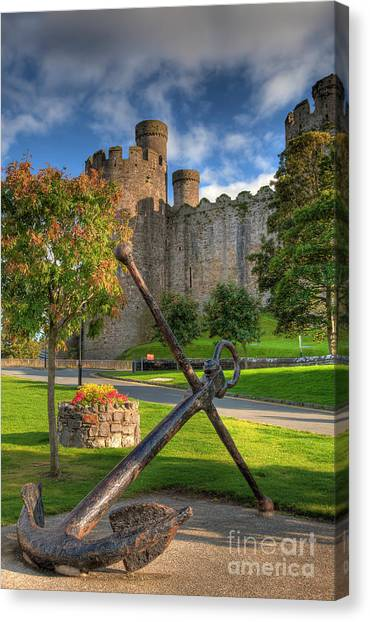 Conwy Castle Canvas Print - The Anchor by Adrian Evans