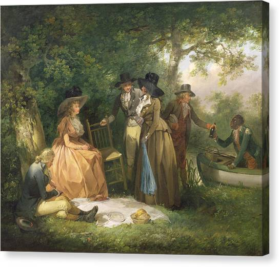 Angling Canvas Print - The Angler's Repast  by George Morland