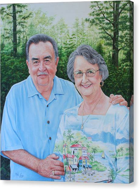 The Armstrongs Canvas Print