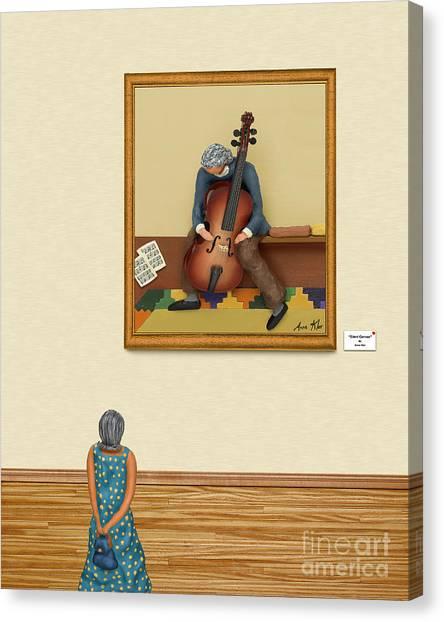 The Art Critic 2 Canvas Print