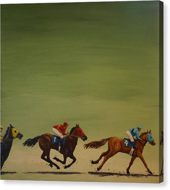 The Art Of Racing Canvas Print by Jennifer Lynch