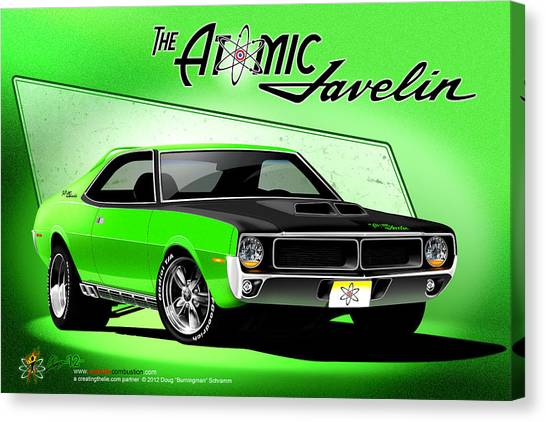The Atomic Javelin Canvas Print