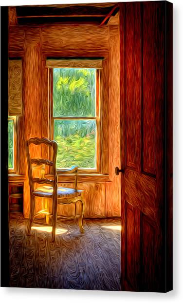 Canvas Print featuring the photograph The Attic View by Williams-Cairns Photography LLC