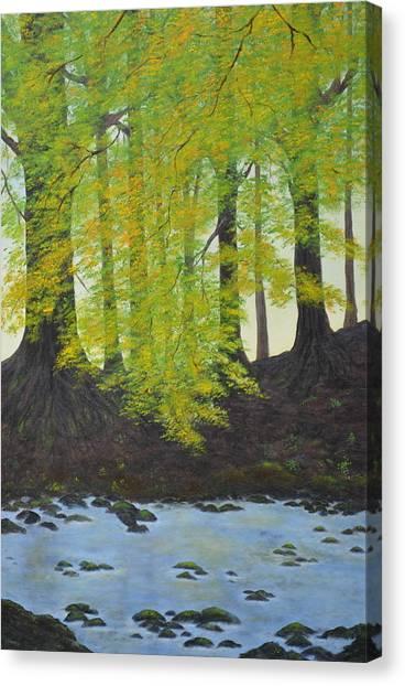 The Autumn Glen Canvas Print