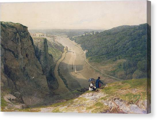 Severn River Canvas Print - The Avon Gorge - Looking Over Clifton by Francis Danby