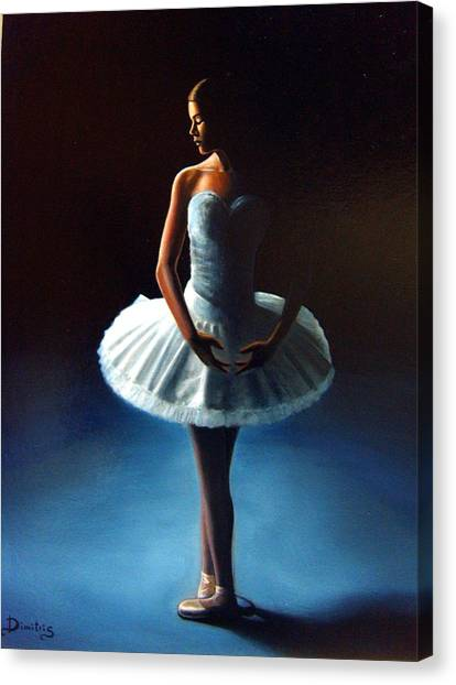 The Ballet Dancer 2 Canvas Print by Dimitris Papadakis