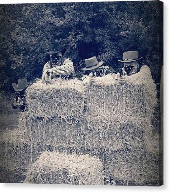 Back Canvas Print - The Bandits.. #cowboys #shooting by Ole Back
