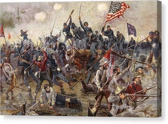 Army Of The Potomac Canvas Print - The Battle Of Spotsylvania by Henry Alexander Ogden