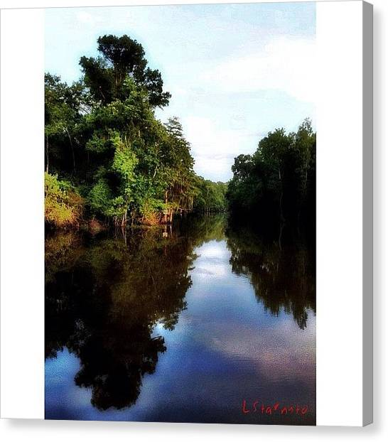 Bayous Canvas Print - The #bayou Can Be So Peaceful At Times by Lester Starnuto
