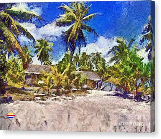 The Beach 02 Canvas Print by Vidka Art