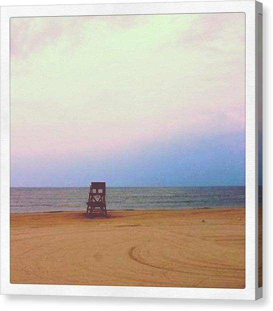Beach Sunrises Canvas Print - The Beach Early This Morning ☀🌊 by Ashley Shine