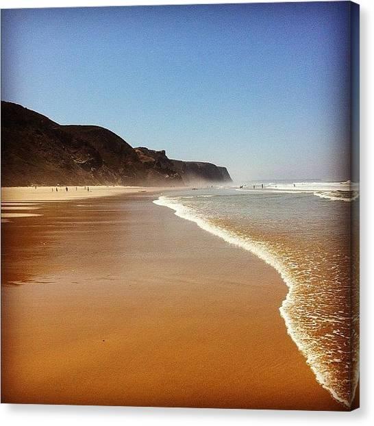 Beach Cliffs Canvas Print - The Beach by Marco Guenzi
