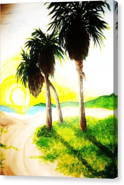 The Beach Canvas Print by Ragdoll Washburn
