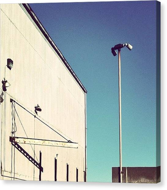 Warehouses Canvas Print - The Beacon by Resonate Iphoneography