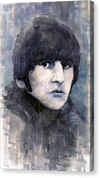 The Beatles Canvas Print - The Beatles Ringo Starr by Yuriy Shevchuk