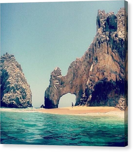 Ocean Sunsets Canvas Print - The Beautiful Arches In Cabo San Lucas by Amanda Schoonover