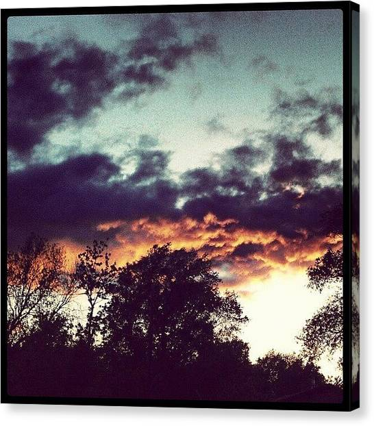 Kansas Canvas Print - The Beautiful Sunset From Last Night by Emma Holton