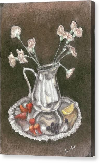 The Bent Flower Canvas Print