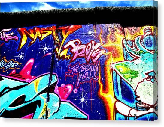 The Berlin Wall 2 Canvas Print by Mark Azavedo
