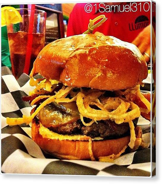 Bacon Canvas Print - The Best #burgers In Las Vegas Can Be by Javier Rodriguez