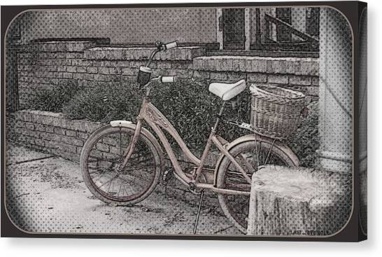 the Bicycle is waiting Canvas Print