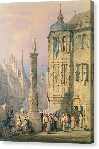 Bishops Canvas Print - The Bishop's Palace Wurzburg by Samuel Prout