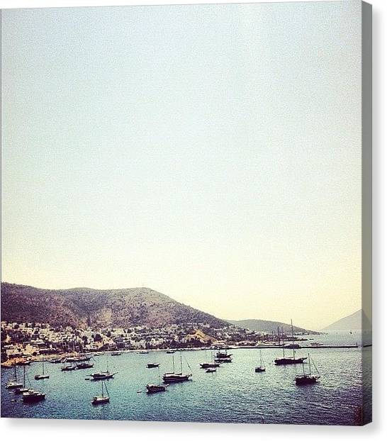 Yachts Canvas Print - The Black Sea by George Saad